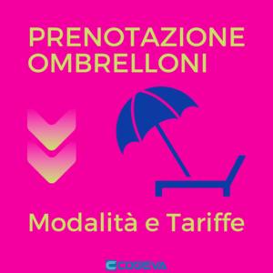 PRENOTAZIONE OMBRELLONI - modalità e tariffe - COGEVA